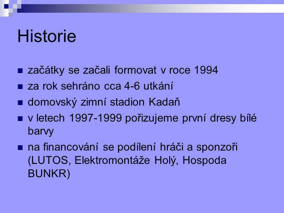 Historie začátky se začali formovat v roce 1994