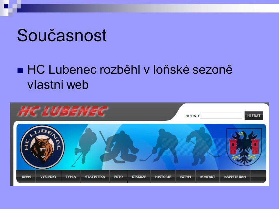 Současnost HC Lubenec rozběhl v loňské sezoně vlastní web