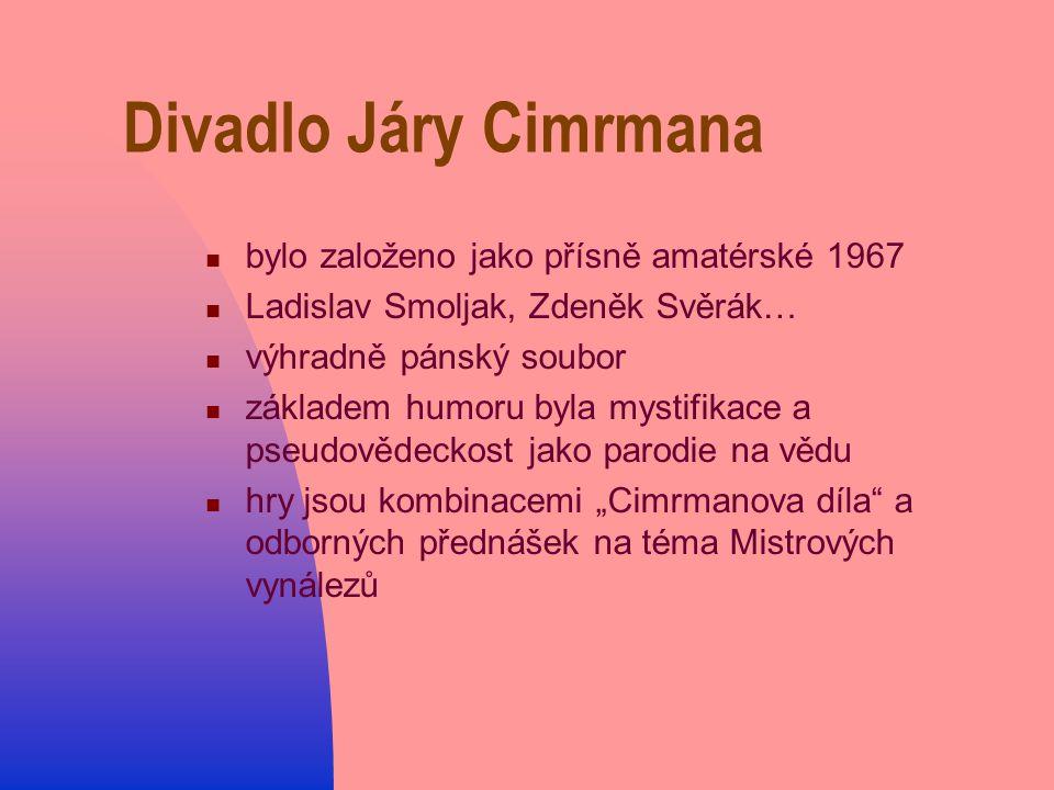 Divadlo Járy Cimrmana bylo založeno jako přísně amatérské 1967