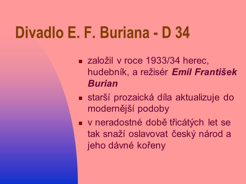 Divadlo E. F. Buriana - D 34 založil v roce 1933/34 herec, hudebník, a režisér Emil František Burian.