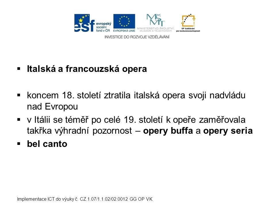 Italská a francouzská opera