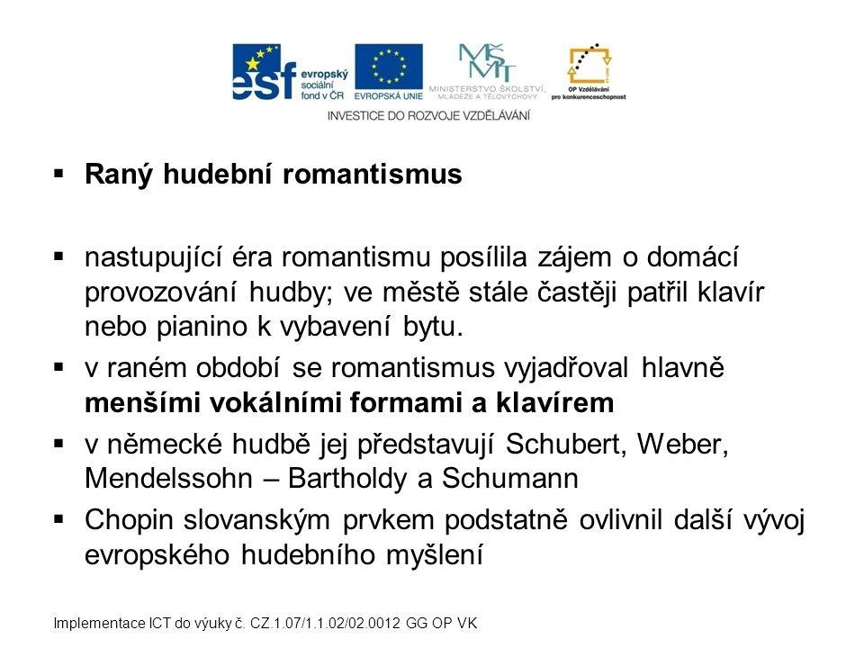 Raný hudební romantismus