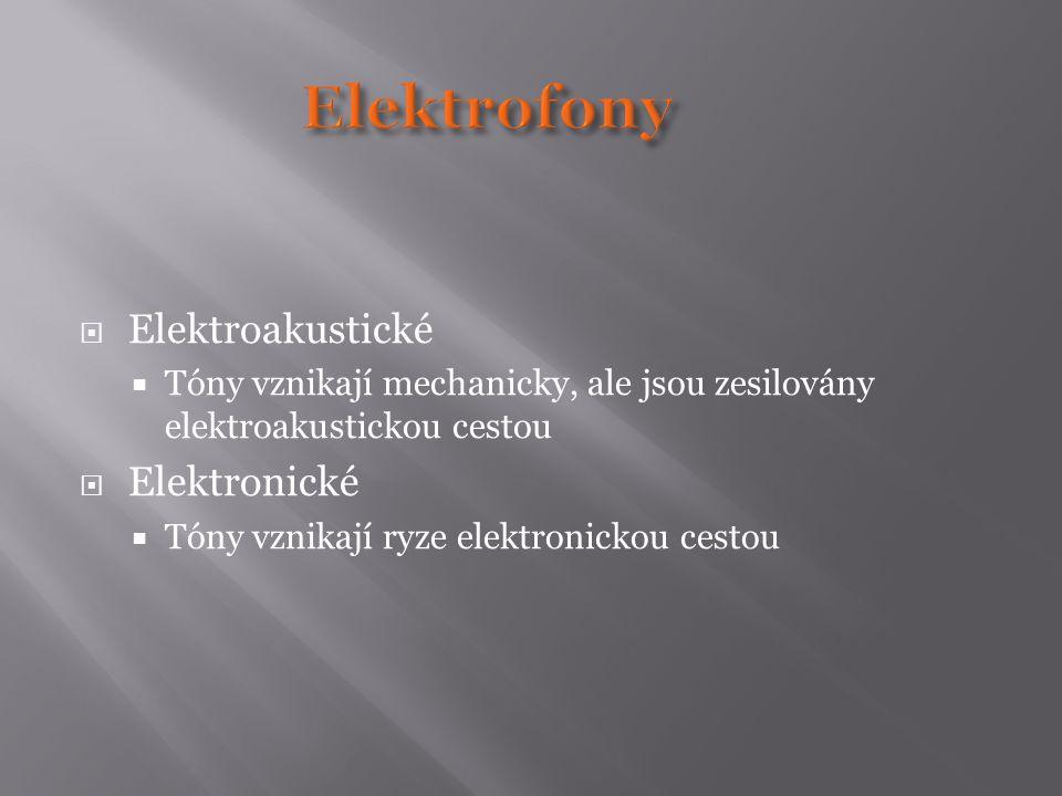 Elektrofony Elektroakustické Elektronické
