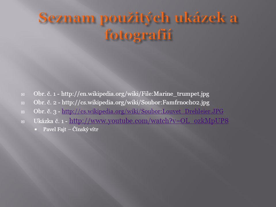 Seznam použitých ukázek a fotografií