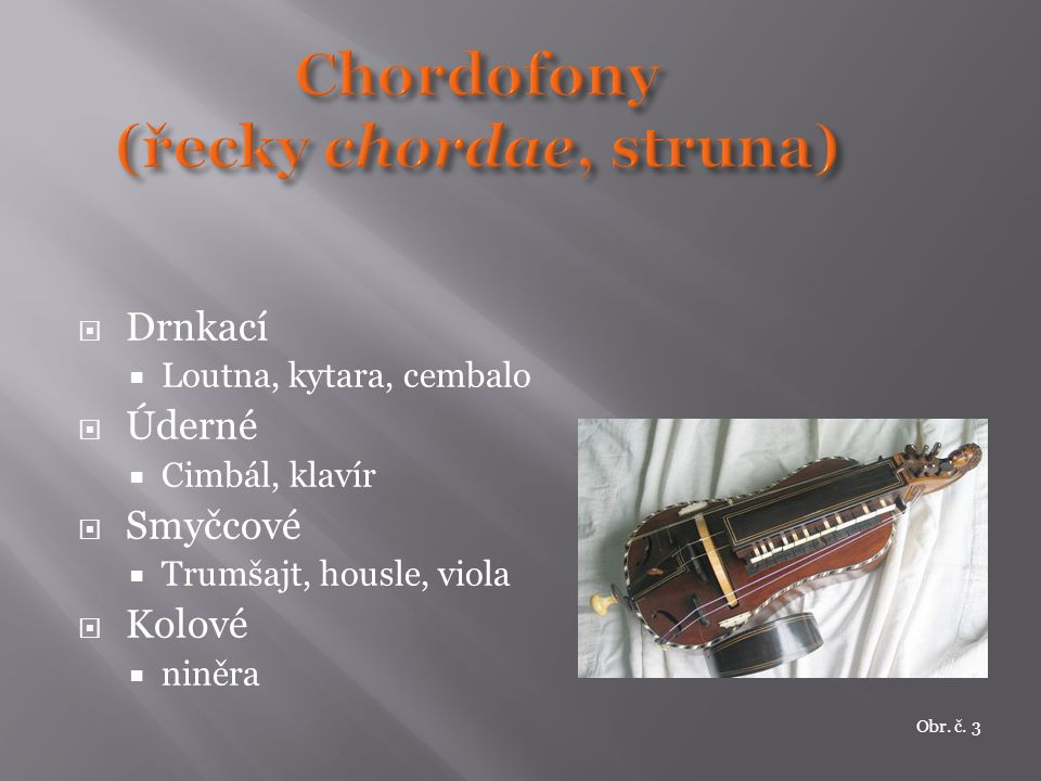 Chordofony (řecky chordae, struna)