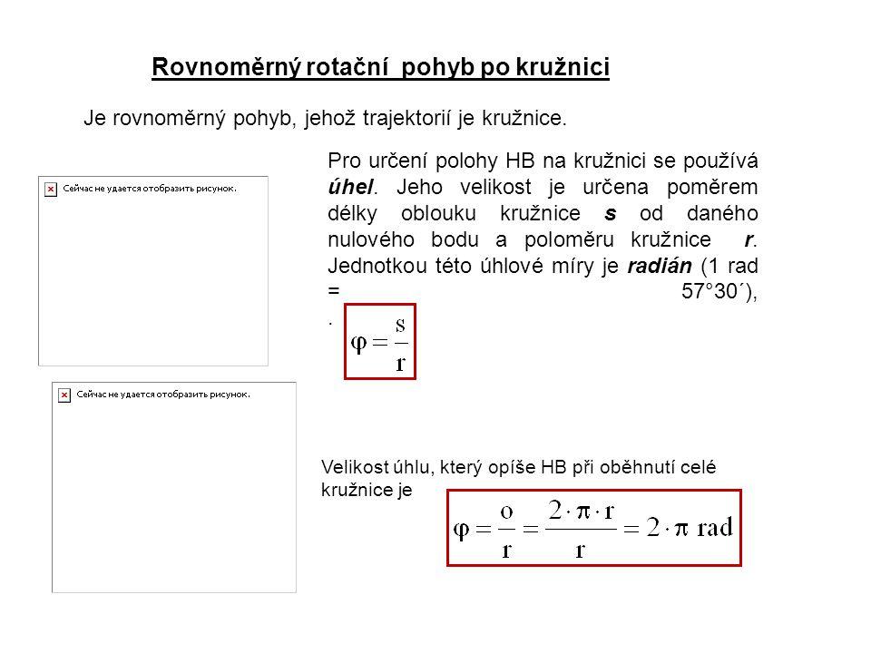 Rovnoměrný rotační pohyb po kružnici