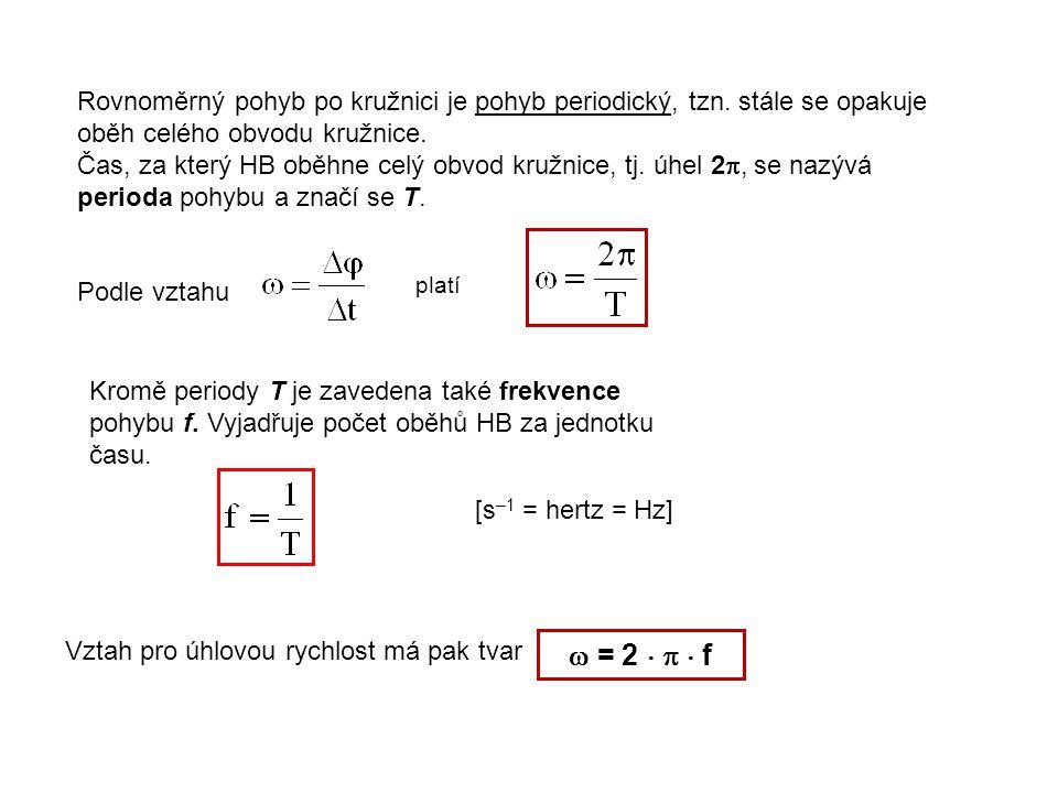 Rovnoměrný pohyb po kružnici je pohyb periodický, tzn