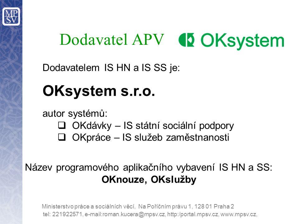 Název programového aplikačního vybavení IS HN a SS:
