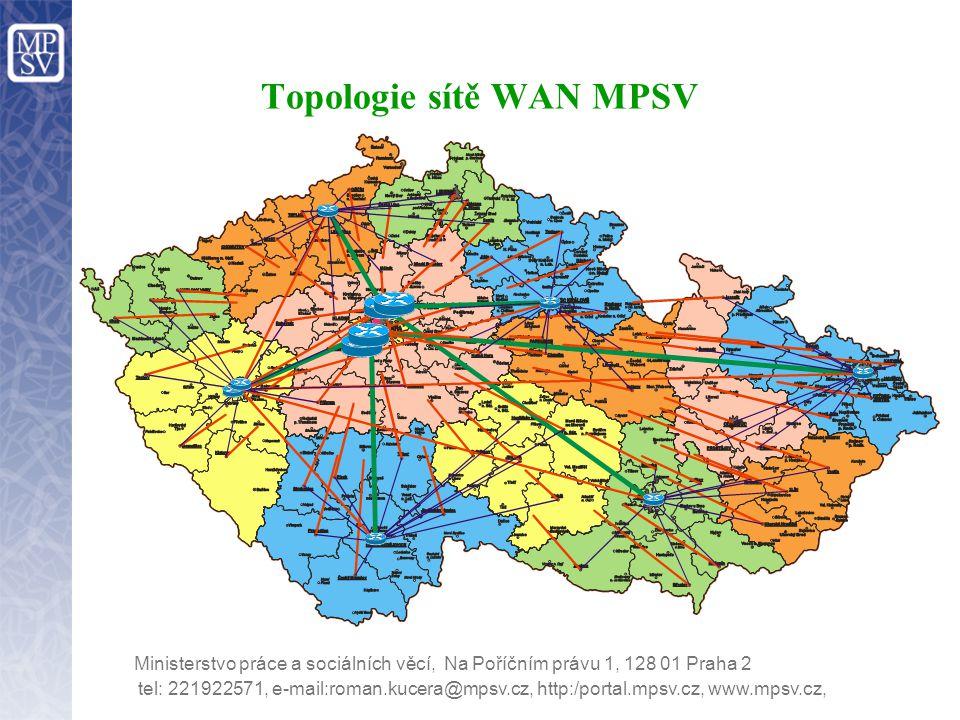 Topologie sítě WAN MPSV