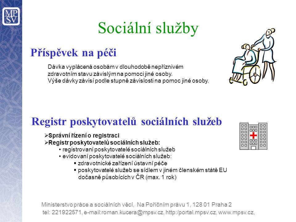 Registr poskytovatelů sociálních služeb