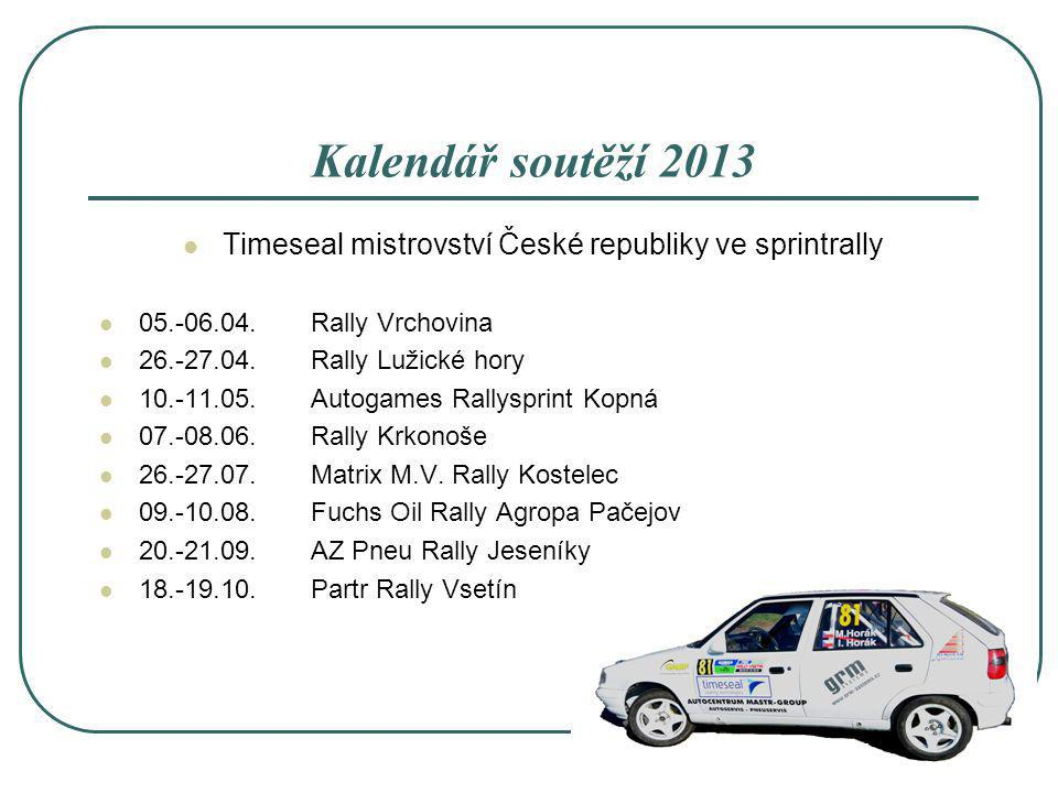 Timeseal mistrovství České republiky ve sprintrally