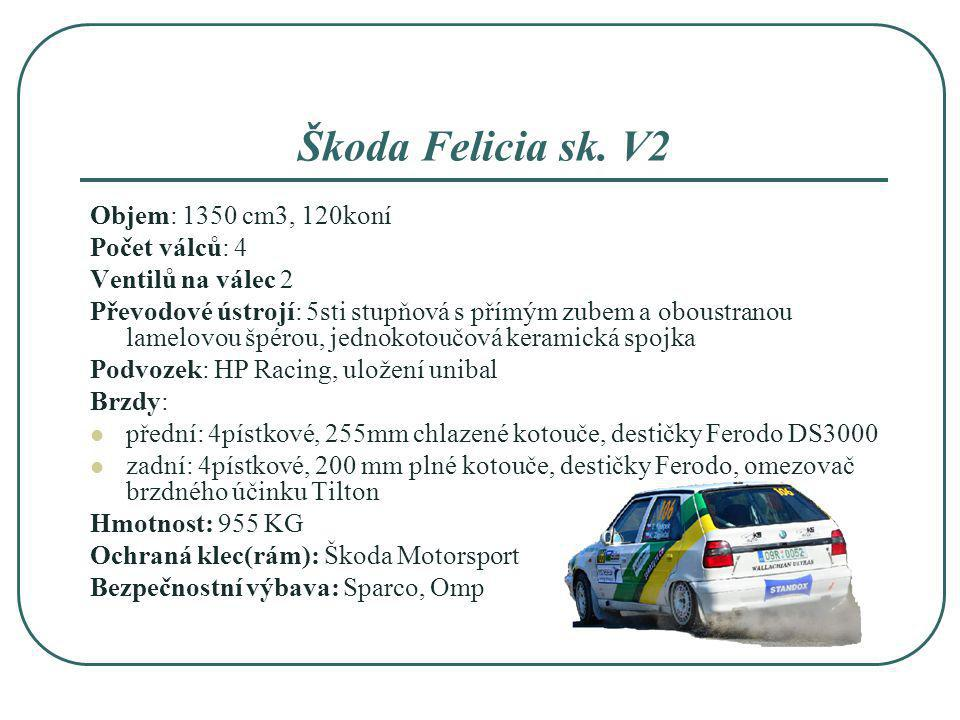 Škoda Felicia sk. V2 Objem: 1350 cm3, 120koní Počet válců: 4
