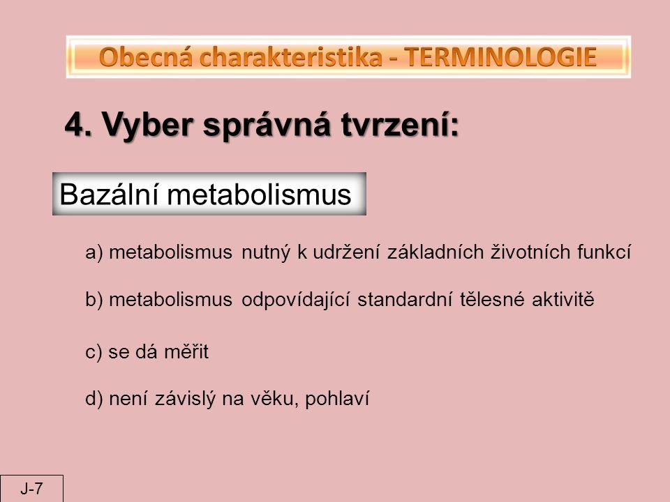 Obecná charakteristika - TERMINOLOGIE