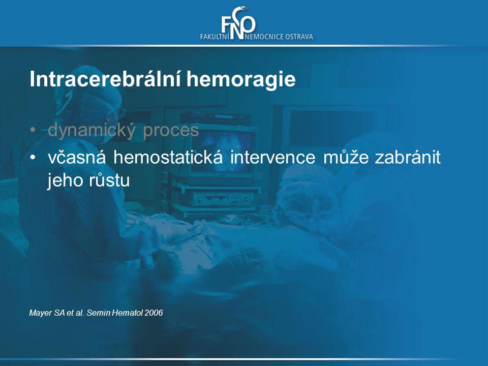 Intracerebrální hemoragie