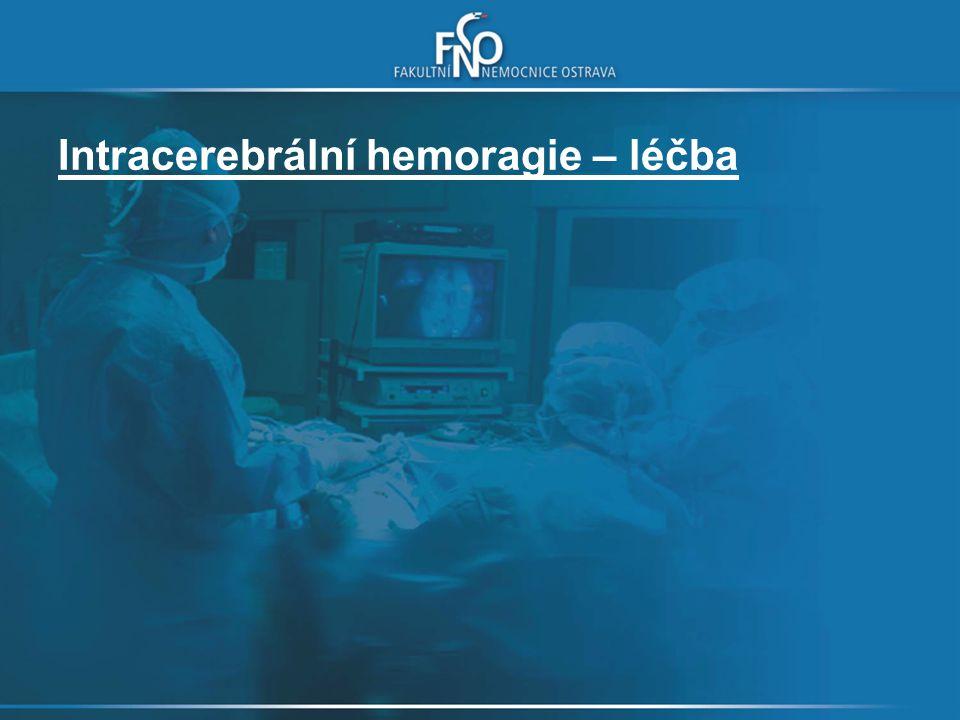 Intracerebrální hemoragie – léčba