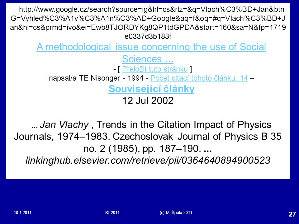 A methodological issue concerning the use of Social Sciences ...