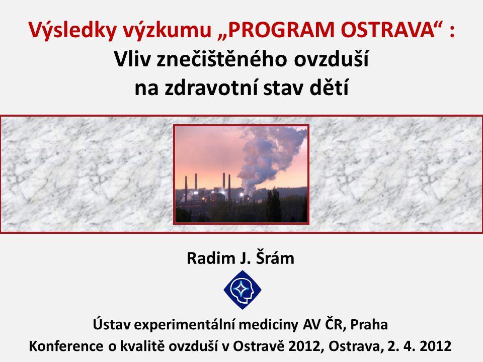 """Výsledky výzkumu """"PROGRAM OSTRAVA : Vliv znečištěného ovzduší"""