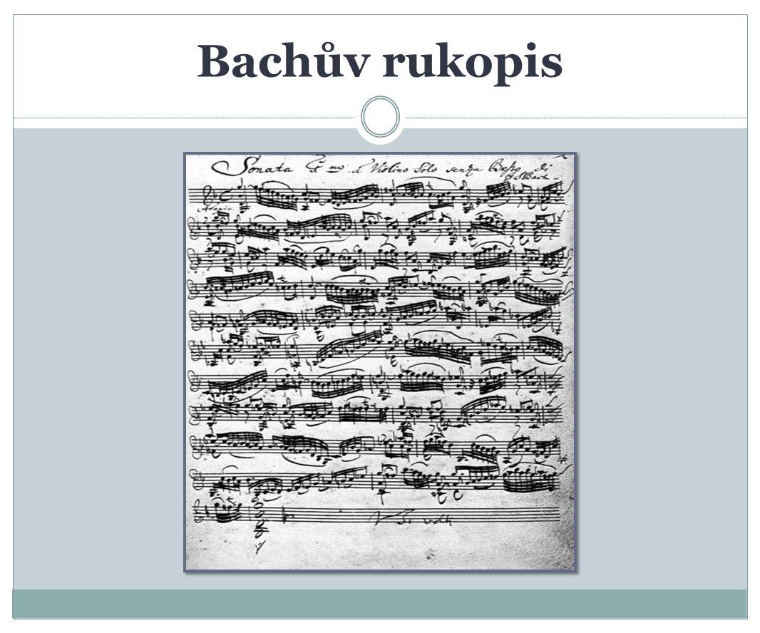 Bachův rukopis
