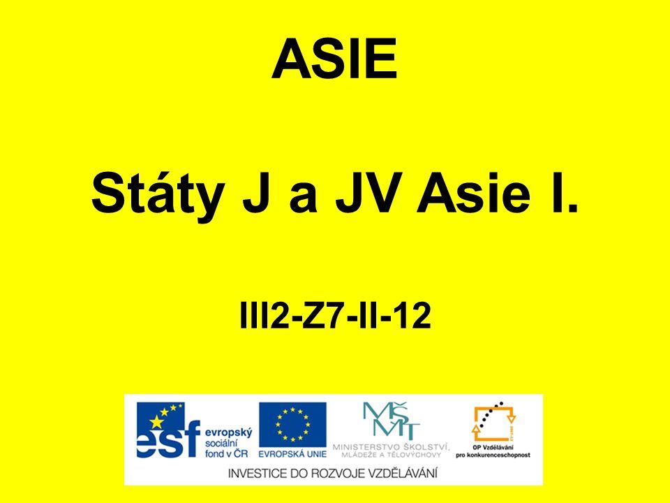 Státy J a JV Asie I. III2-Z7-II-12