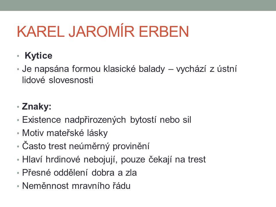 KAREL JAROMÍR ERBEN Kytice