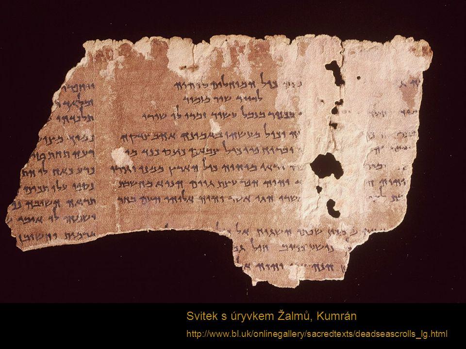 Svitek s úryvkem Žalmů, Kumrán