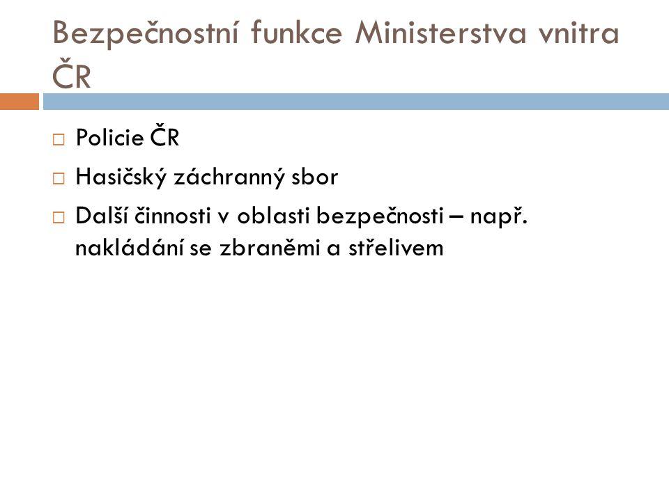 Bezpečnostní funkce Ministerstva vnitra ČR