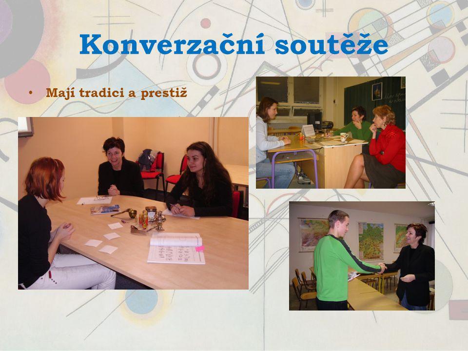 Konverzační soutěže Mají tradici a prestiž