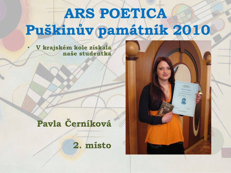 ARS POETICA Puškinův památník 2010