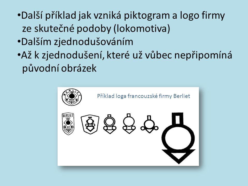 Další příklad jak vzniká piktogram a logo firmy