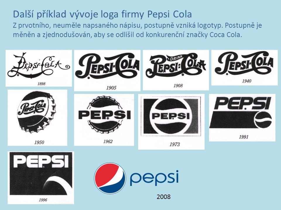 Další příklad vývoje loga firmy Pepsi Cola