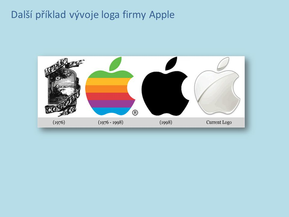 Další příklad vývoje loga firmy Apple