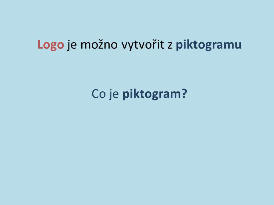 Logo je možno vytvořit z piktogramu Co je piktogram