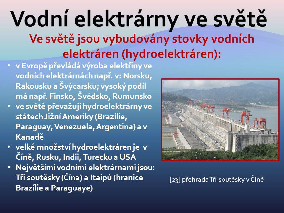 Vodní elektrárny ve světě