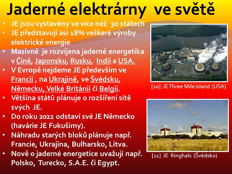 Jaderné elektrárny ve světě