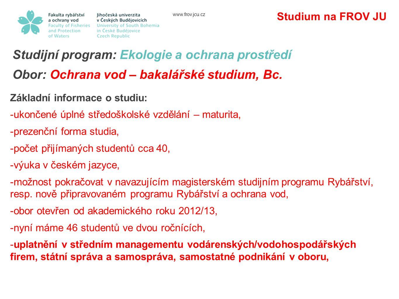 Studijní program: Ekologie a ochrana prostředí