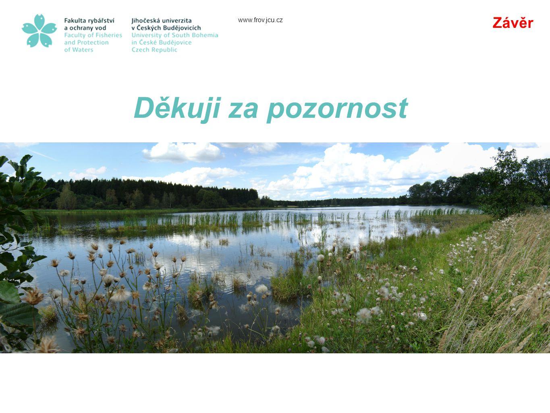 Závěr www.frov.jcu.cz Děkuji za pozornost