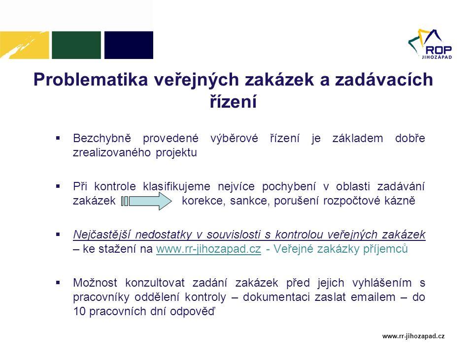 Problematika veřejných zakázek a zadávacích řízení