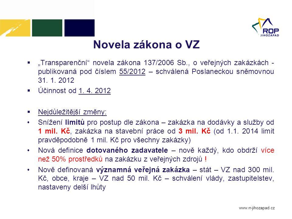 6.4.2017 Novela zákona o VZ.