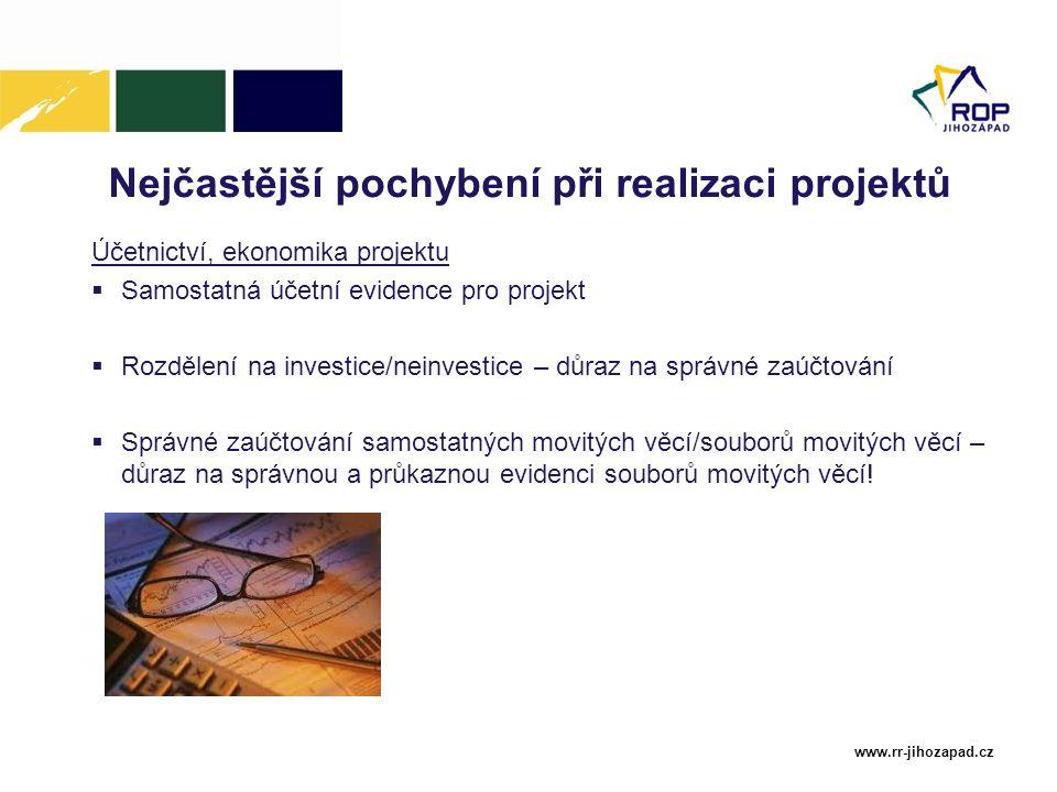 Nejčastější pochybení při realizaci projektů