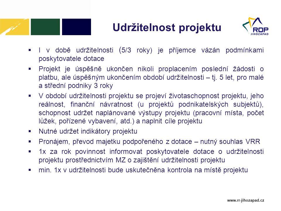 Udržitelnost projektu