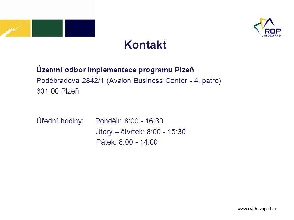 Kontakt Územní odbor implementace programu Plzeň