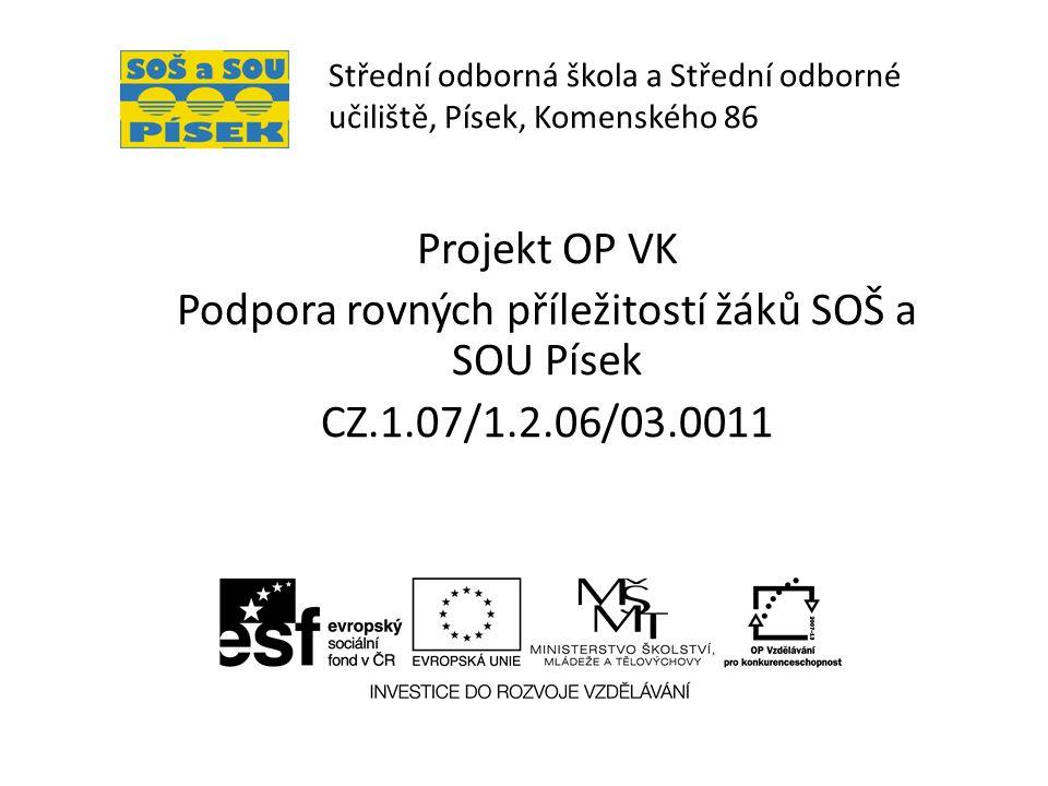 Střední odborná škola a Střední odborné učiliště, Písek, Komenského 86