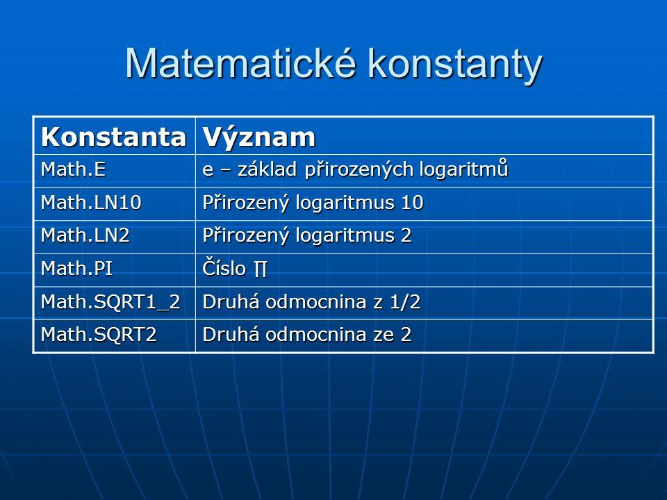 Matematické konstanty