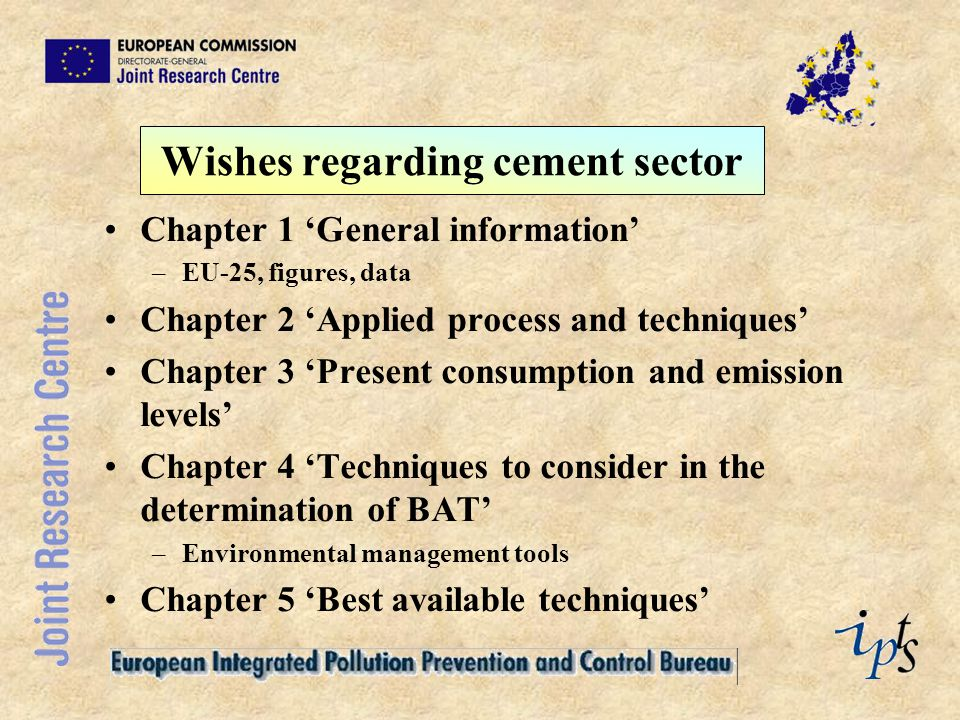 Wishes regarding cement sector