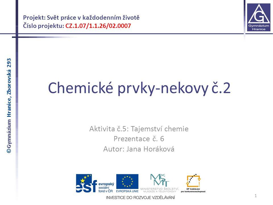 Chemické prvky-nekovy č.2