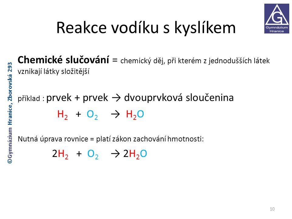 Reakce vodíku s kyslíkem