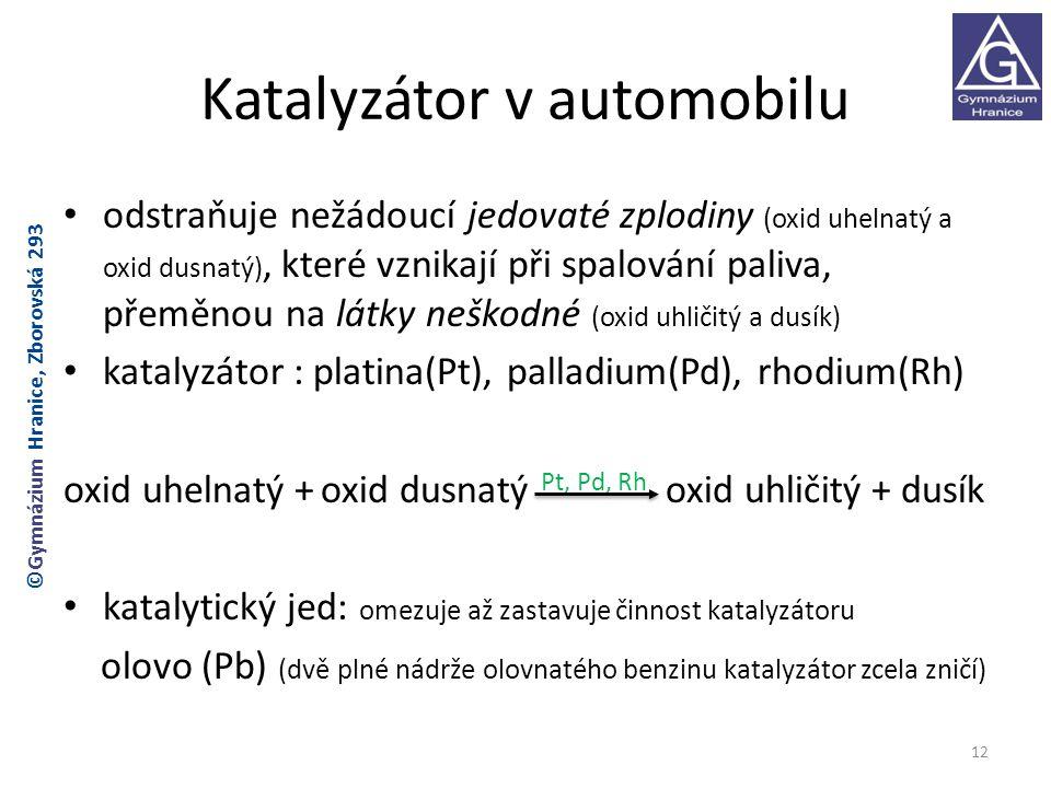 Katalyzátor v automobilu