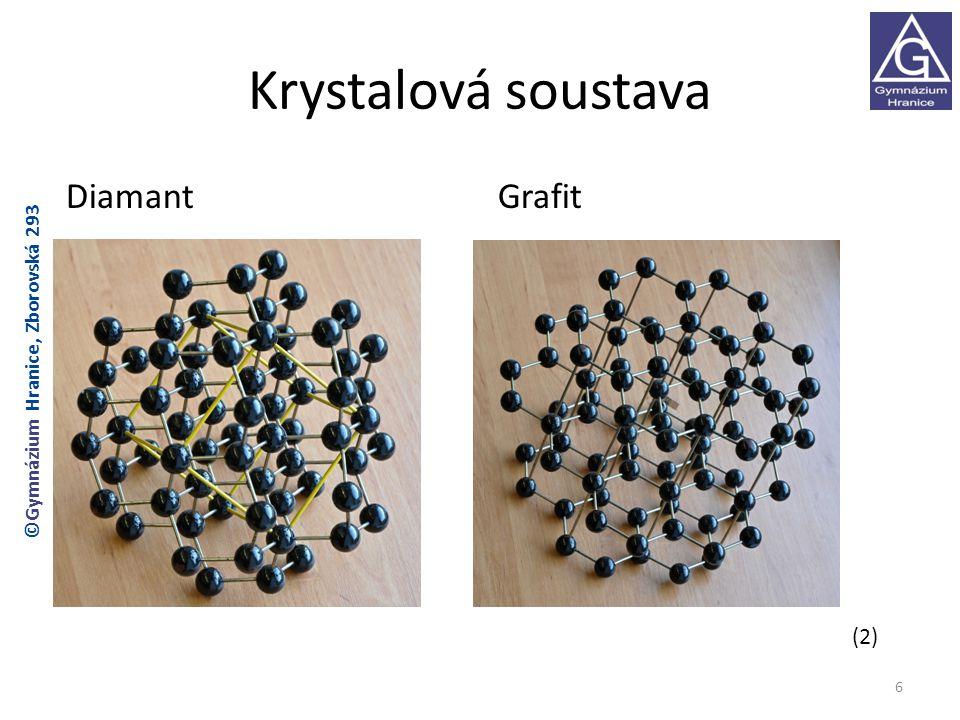 Krystalová soustava Diamant Grafit (2)