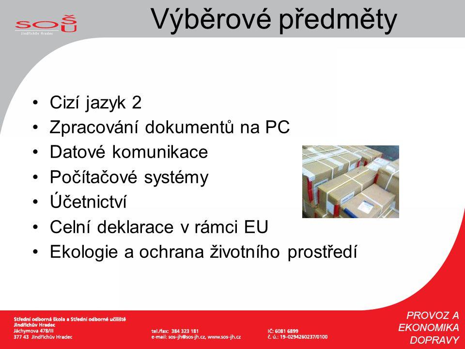 Výběrové předměty Cizí jazyk 2 Zpracování dokumentů na PC