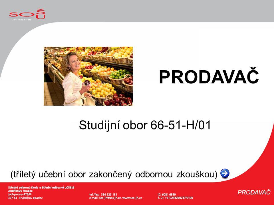 PRODAVAČ Studijní obor 66-51-H/01